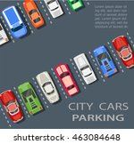 city parking lot  | Shutterstock . vector #463084648