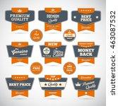 vintage labels set. vector... | Shutterstock .eps vector #463087532