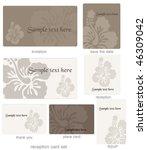 editable wedding template set | Shutterstock .eps vector #46309042