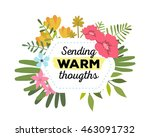 vector illustration of floral... | Shutterstock .eps vector #463091732