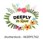 vector illustration of floral... | Shutterstock .eps vector #463091762
