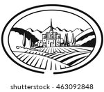 vineyard farm cover design for... | Shutterstock .eps vector #463092848