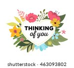 vector illustration of floral... | Shutterstock .eps vector #463093802