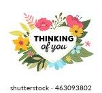 vector illustration of floral...   Shutterstock .eps vector #463093802