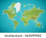 colorful world map vector... | Shutterstock .eps vector #463099982