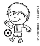 boy kicking a soccer ball | Shutterstock .eps vector #46310935