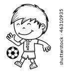 boy kicking a soccer ball | Shutterstock .eps vector #46310935