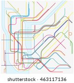 Colored Subway Vector Map Of...