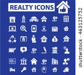 realty icons | Shutterstock .eps vector #463125752