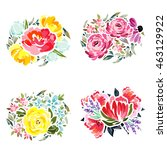 flower set | Shutterstock . vector #463129922