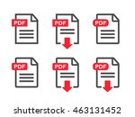 file download icon. document... | Shutterstock .eps vector #463131452
