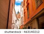 graz old city street view with... | Shutterstock . vector #463140212