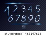 Neon Abstract Lens Numbers Set...