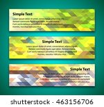 set of horizontal banners with... | Shutterstock .eps vector #463156706
