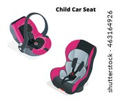 safety car seat for baby and... | Shutterstock .eps vector #463164926