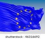 european union flying on clear... | Shutterstock . vector #46316692