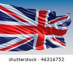 United Kingdom Flag Flying On...