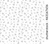 vector abstract memphis pattern ... | Shutterstock .eps vector #463167656