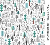 seamless background   forest.... | Shutterstock .eps vector #463167752