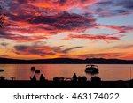 Amazing Sunset Over Lake Quebe...
