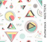 abstract geometric background.... | Shutterstock .eps vector #463175192