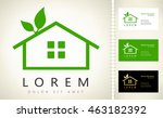 house eco. real estate logo... | Shutterstock .eps vector #463182392