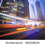 megacity highway at night with...   Shutterstock . vector #46318654