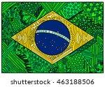 brazil flag. ethnic national... | Shutterstock .eps vector #463188506