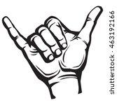 shaka hand sign | Shutterstock .eps vector #463192166