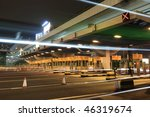 Toll Booths With Car Light In...