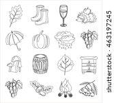 autumn. cartoon and flat style... | Shutterstock .eps vector #463197245