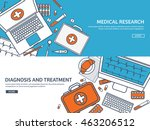 medical flat vector background... | Shutterstock .eps vector #463206512