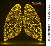 abstract glowing human lung.... | Shutterstock .eps vector #463207712