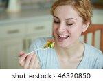 an image of girl eating tasty... | Shutterstock . vector #46320850