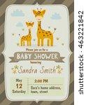 baby shower invitation card... | Shutterstock .eps vector #463221842