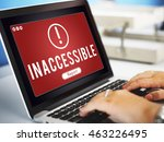 inaccessible network problem... | Shutterstock . vector #463226495