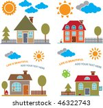 family houses   vector set   22 | Shutterstock .eps vector #46322743