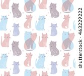 vector seamless pattern with... | Shutterstock .eps vector #463229222