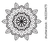 flower mandala. vintage...   Shutterstock .eps vector #463234475