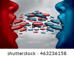 concept of debate and political ... | Shutterstock . vector #463236158