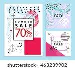 set of summer sale banners.... | Shutterstock .eps vector #463239902