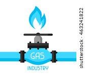 gas control valve. industrial... | Shutterstock .eps vector #463241822