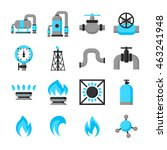 natural gas production ... | Shutterstock .eps vector #463241948