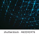 futuristic virtual technology... | Shutterstock . vector #463242476