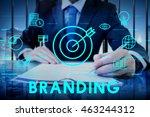 branding advertisement... | Shutterstock . vector #463244312