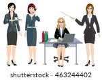 women in office clothes. woman... | Shutterstock .eps vector #463244402