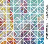 abstract geometric colored... | Shutterstock .eps vector #463260038
