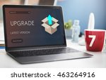 upgrade update new version... | Shutterstock . vector #463264916