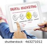 internet multimedia technology... | Shutterstock . vector #463271012