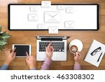 mail  text on message online... | Shutterstock . vector #463308302